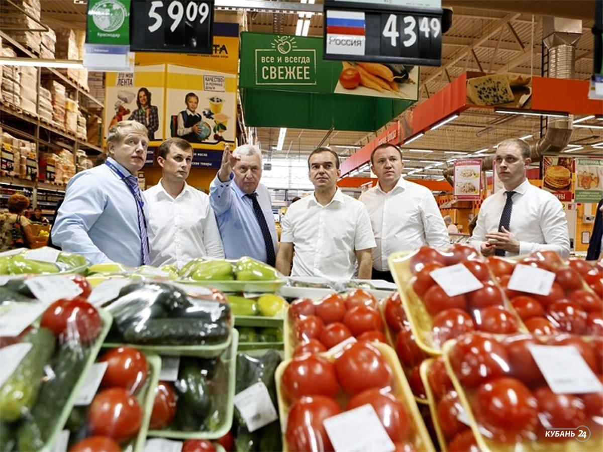 «Факты 24»: Вениамин Кондратьев проверил долю кубанских продуктов в магазинах края, на Кубани в день выборов будут работать 3 тыс. избирательных участков