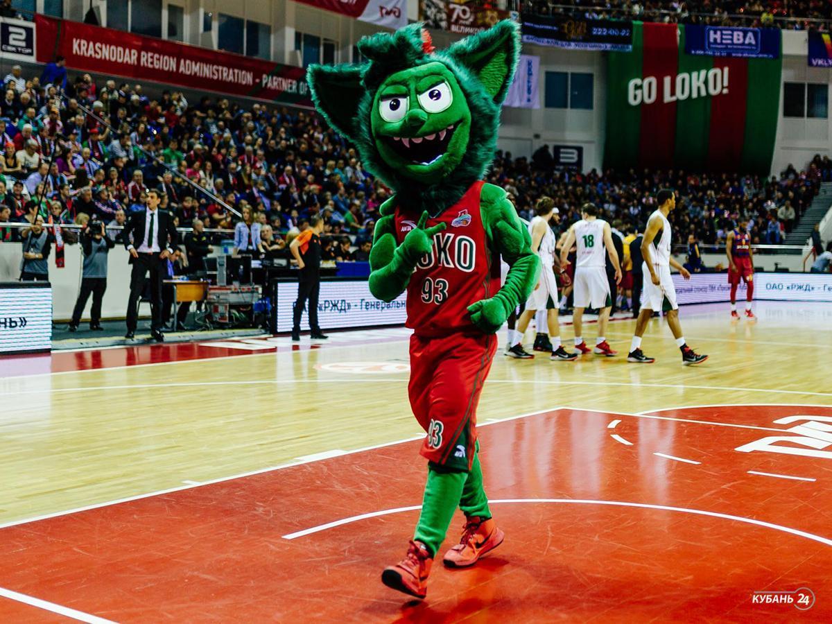 Талисманы кубанских команд: Зубастик ПБК «Локомотив-Кубань»