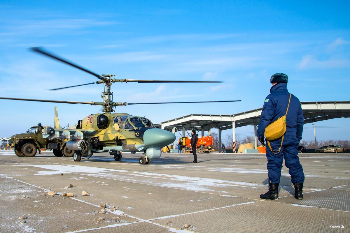 Вертолетные учения в Кореновске