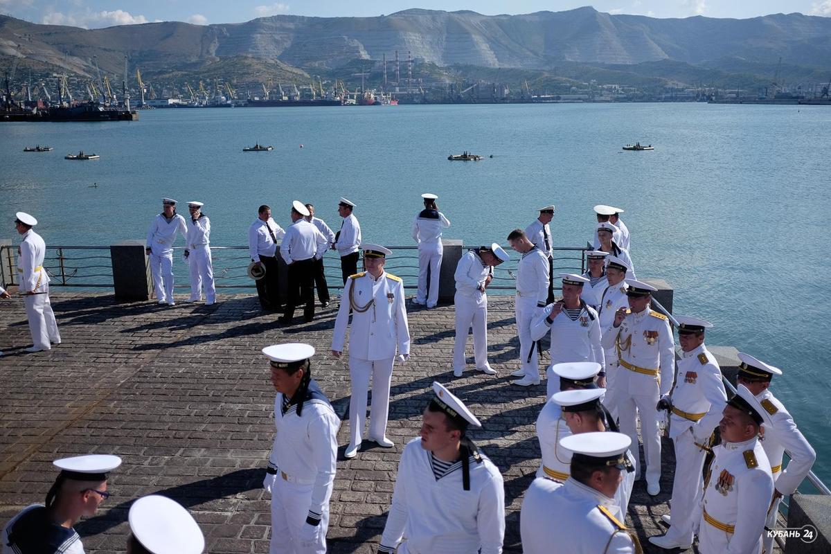 Празднование Дня ВМФ в Новороссийске