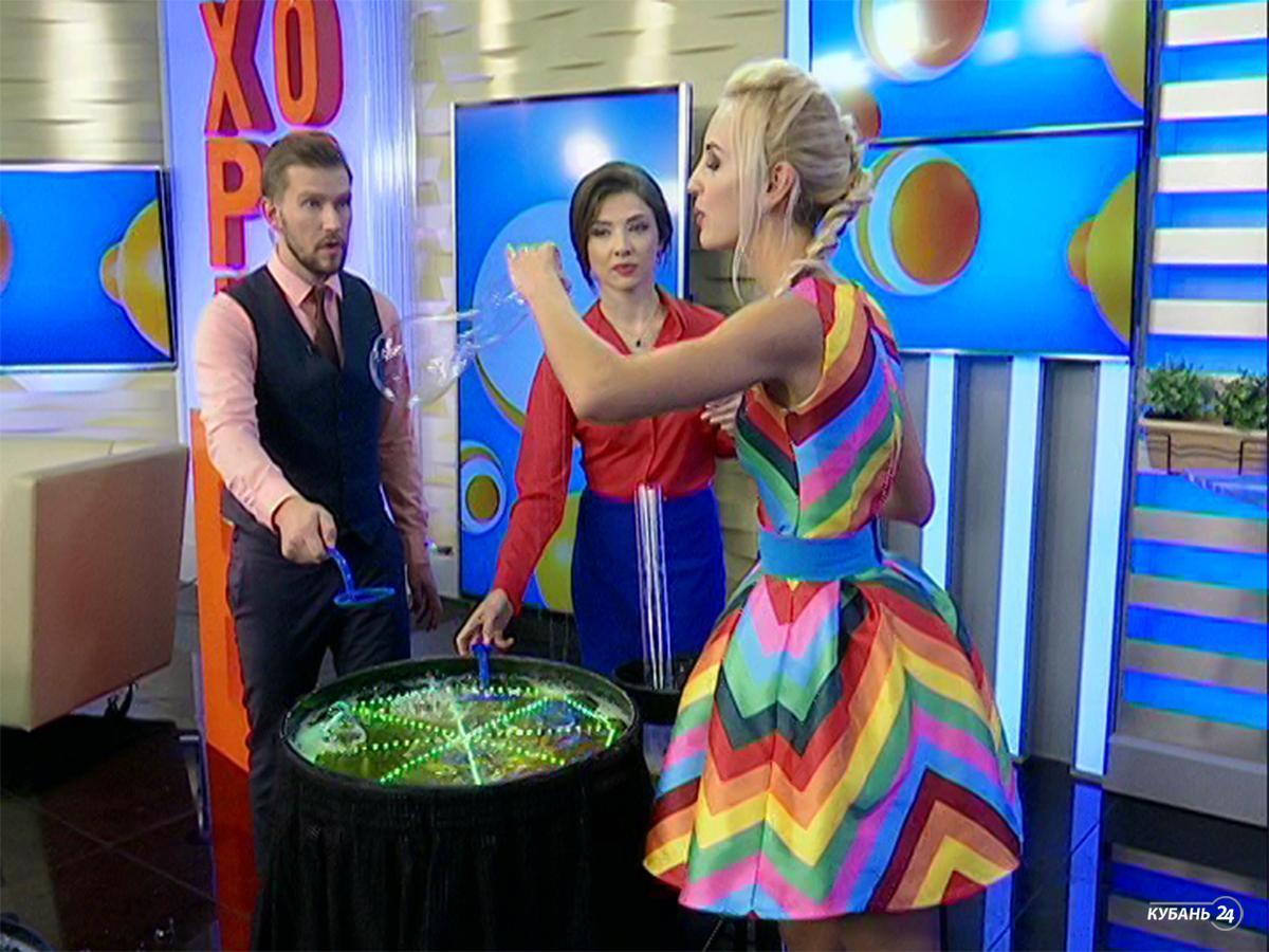 Ведущая шоу мыльных пузырей Алена Усачева: главное, чтобы вода не была жесткой