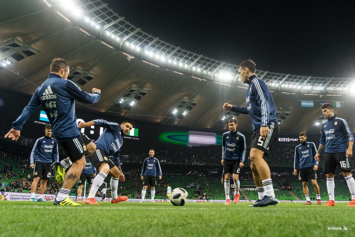 Товарищеский матч Аргентина — Нигерия в Краснодаре