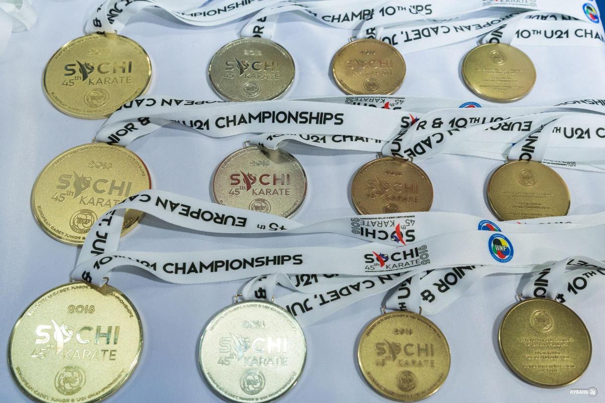 Молодежный чемпионат Европы по карате в Сочи