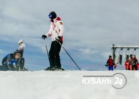 Тестовое открытие горнолыжного сезона в Сочи