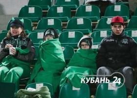 Матч 1/8 финала Кубка России по футболу между ФК «Краснодар» и «Анжи»