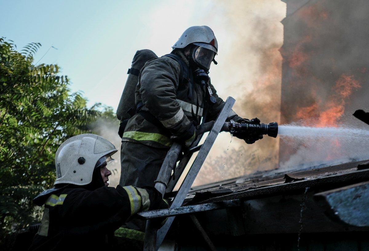 Пожар на улице Мира в Краснодаре