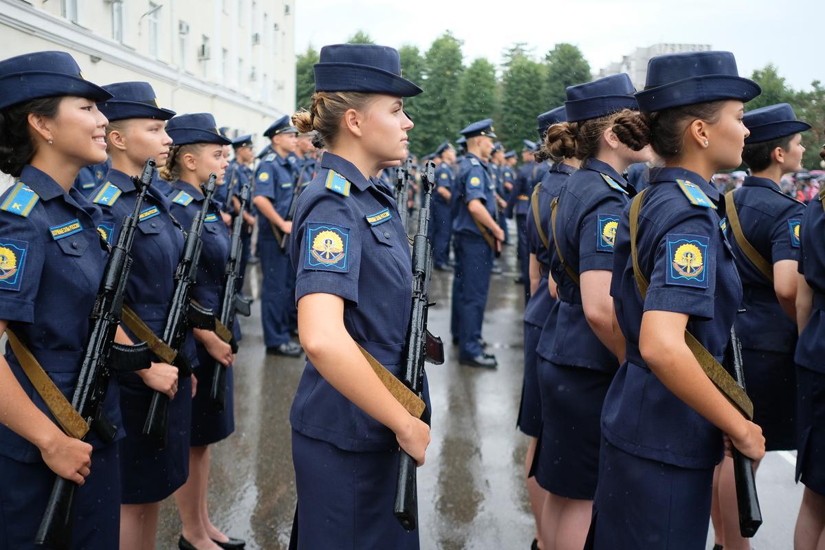 Церемония приведения к военной присяге в краснодарском авиационном училище