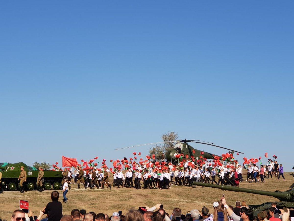 Празднование 75-летия освобождения Кубани в Темрюкском районе