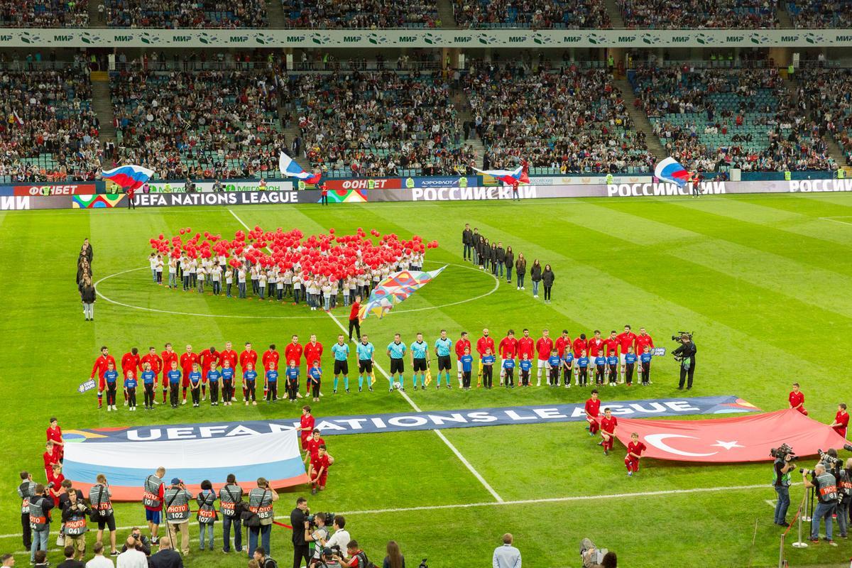 Матч сборных России и Турции Лиги наций УЕФА в Сочи