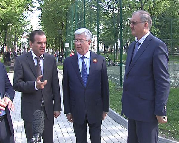 Врио губернатора Кубани осмотрел краснодарские парки и скверы