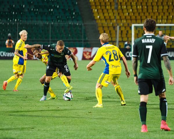 ФК «Краснодар» выиграл первый матч раунда плей-офф Лиги Европы