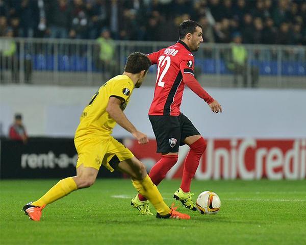 В рамках Лиги Европы ФК «Габала» проиграл «Боруссии» — 1:3