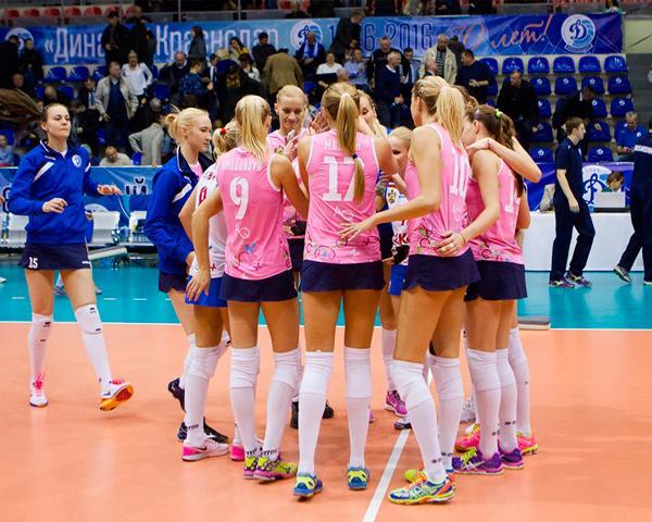 Женское краснодарское «Динамо» пробилось в 1/8 финала Кубка ЕКВ