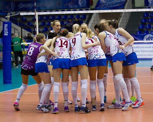 Волейболистки краснодарского «Динамо» одержали победу в первом матче года