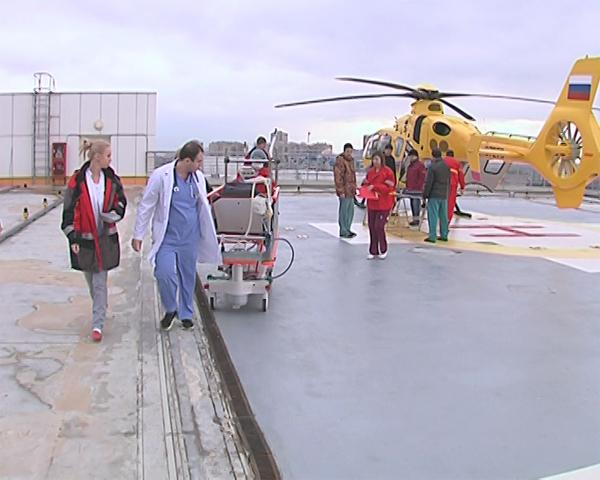 За 2015 год на Кубани при помощи санавиации спасли около 300 человек