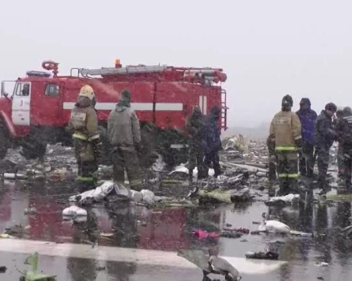 Ликвидацией последствий крушения самолета в Ростове-на-Дону занимаются 800 человек