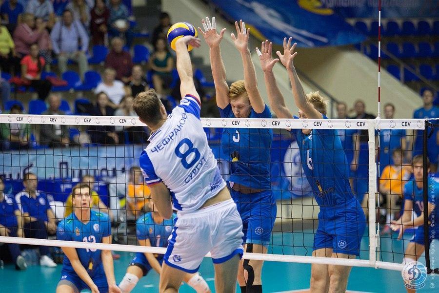 Волейболисты краснодарского «Динамо» в третий раз подряд проиграли в чемпионате России