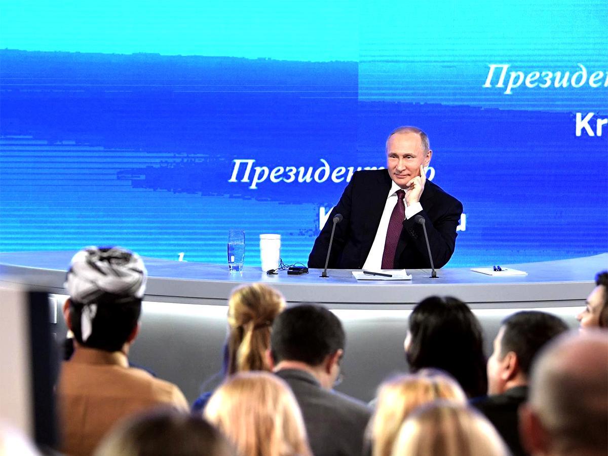 Президент России провел ежегодную пресс-конференцию для журналистов