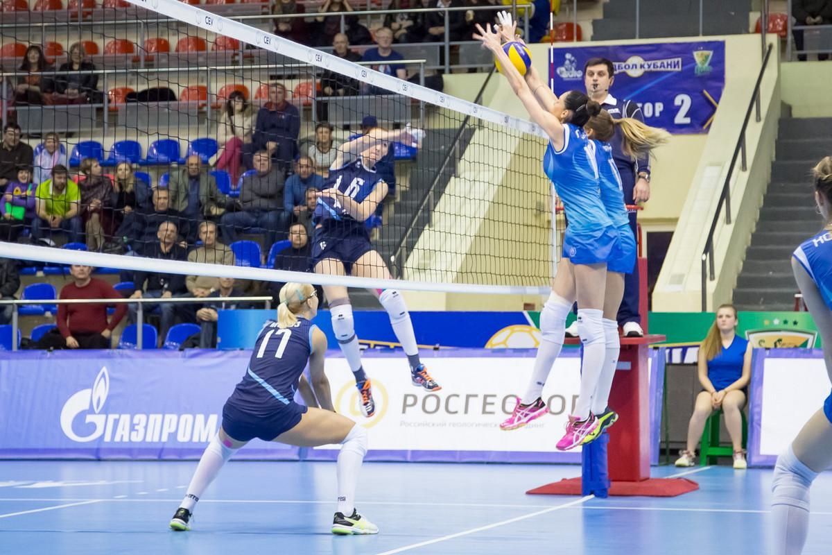 Волейболистки «Динамо Краснодар» дома приняли «Сахалин» в матче Суперлиги