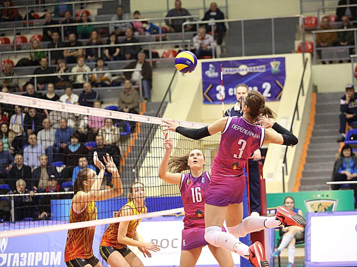 ВК «Динамо Краснодар» и «Енисей» сыграли в первом матче 1/4 финала женской Суперлиги