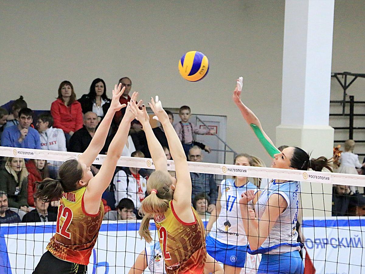 ВК «Динамо Краснодар» сыграл с «Енисеем» во втором матче 1/4 финала женской Суперлиги
