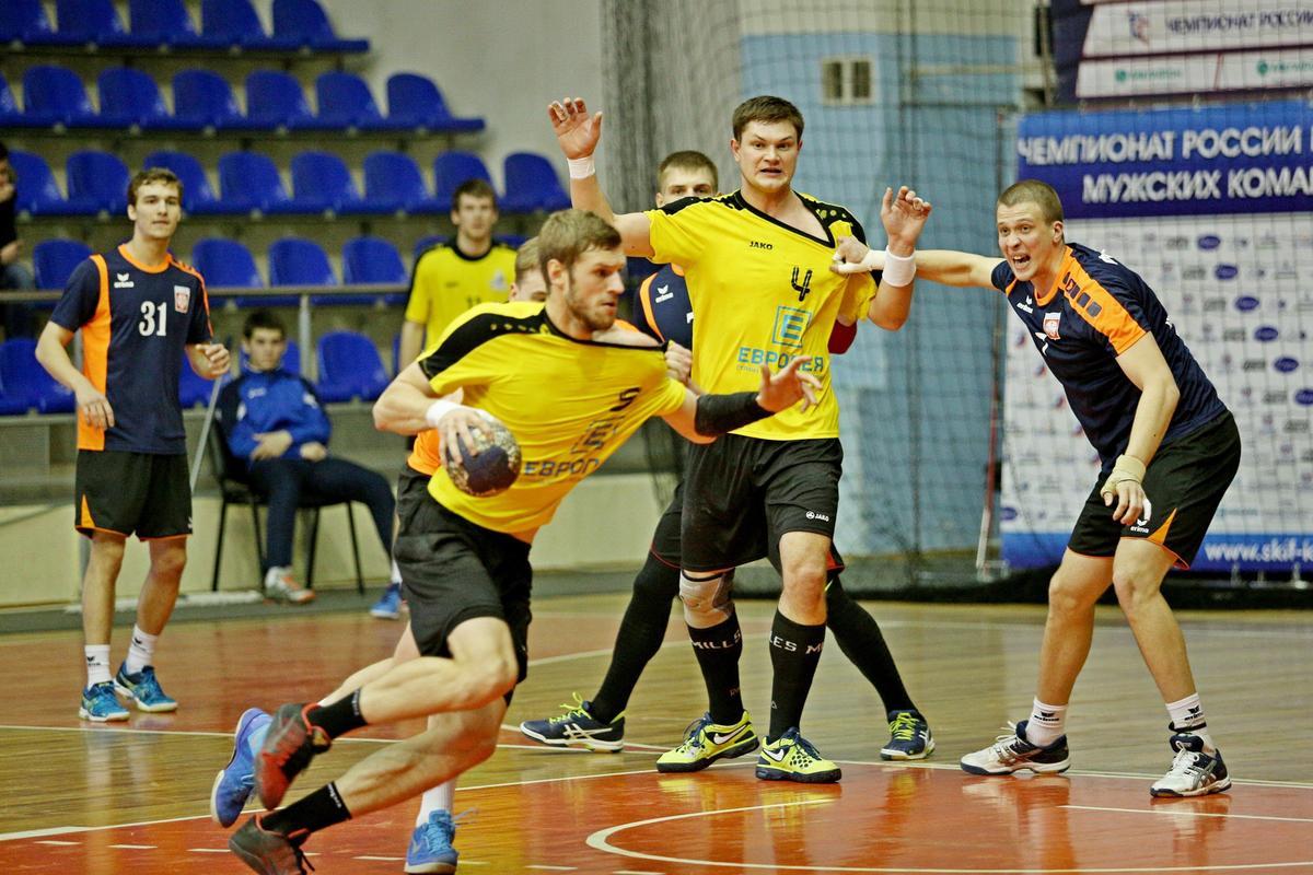 В 17-м туре гандбольной Суперлиги в Краснодаре сыграли СКИФ и «Динамо»