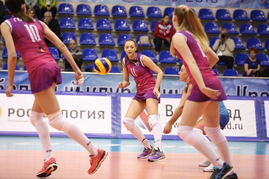 Волейболистки «Динамо Краснодар» сыграли с «Сахалином» в первом финальном туре Суперлиги