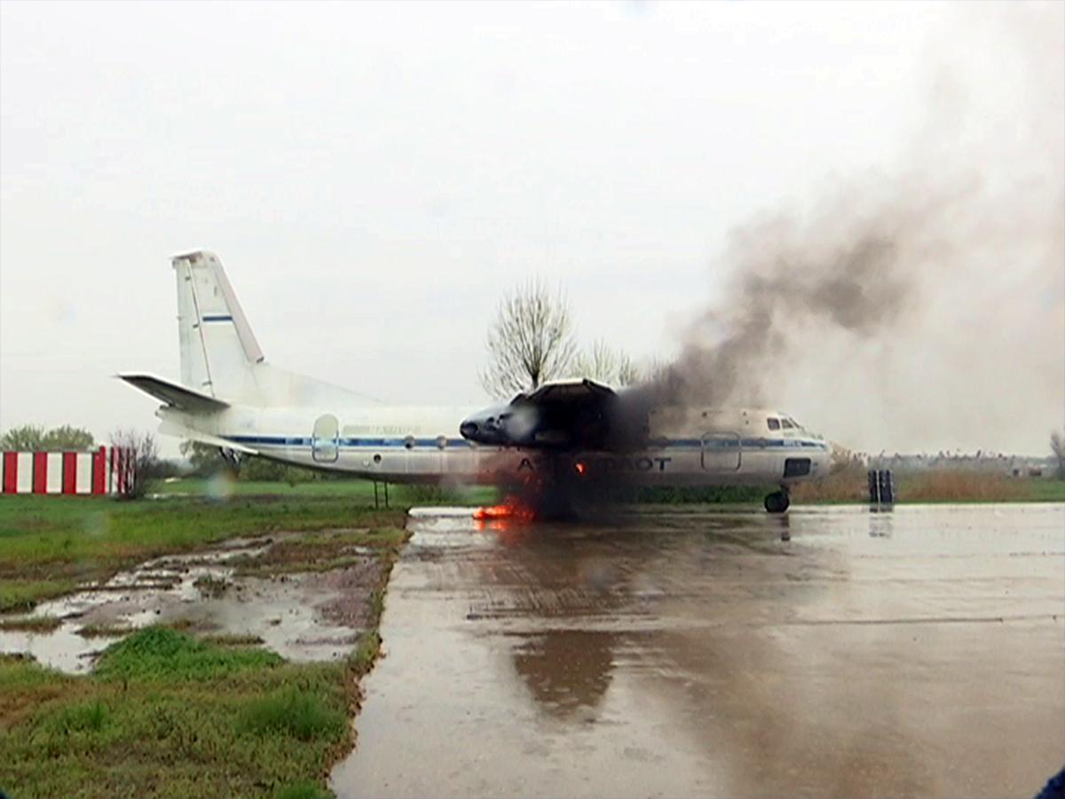 В краснодарском аэропорту прошли учения аварийно-спасательных служб