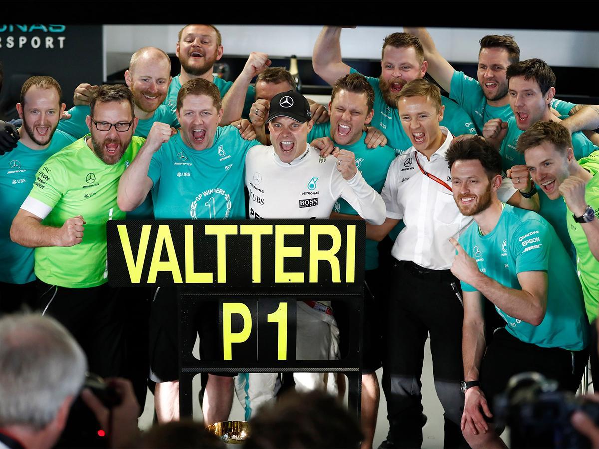 Победитель гонок «Формулы-1» Боттас: в нужный момент я вырвался вперед