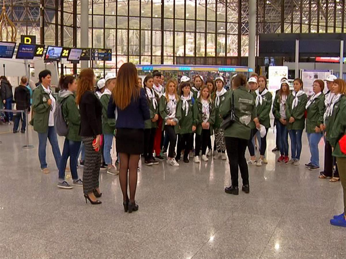 Детям из Усть-Лабинского района провели экскурсию в аэропорту Сочи