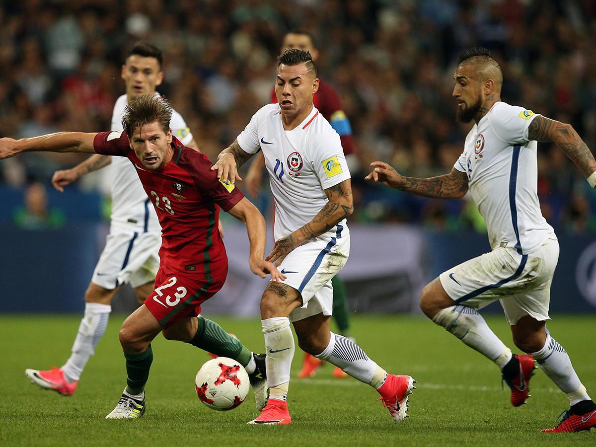 Португалия и Чили провели полуфинальный матч Кубка конфедераций