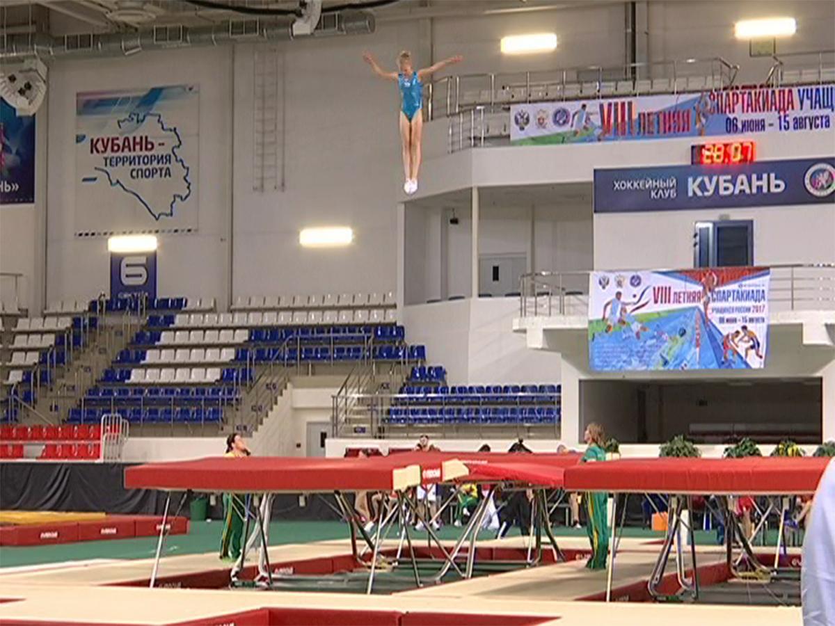 В Краснодаре прошел финал спартакиады учащихся России по прыжкам на батуте
