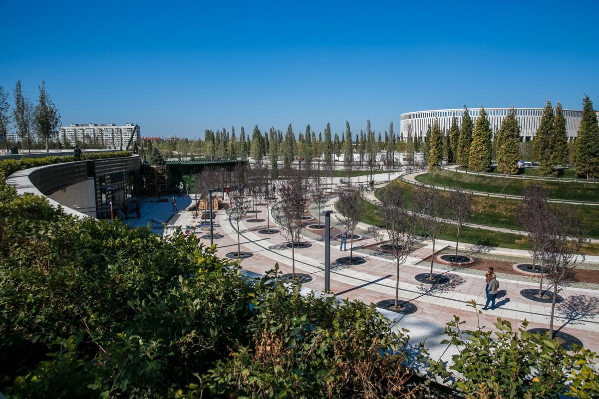 У стадиона «Краснодар» прошло техническое открытие нового парка