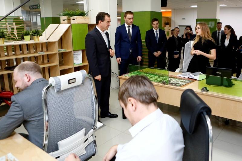 Вениамин Кондратьев оценил проекты начинающих предпринимателей Кубани