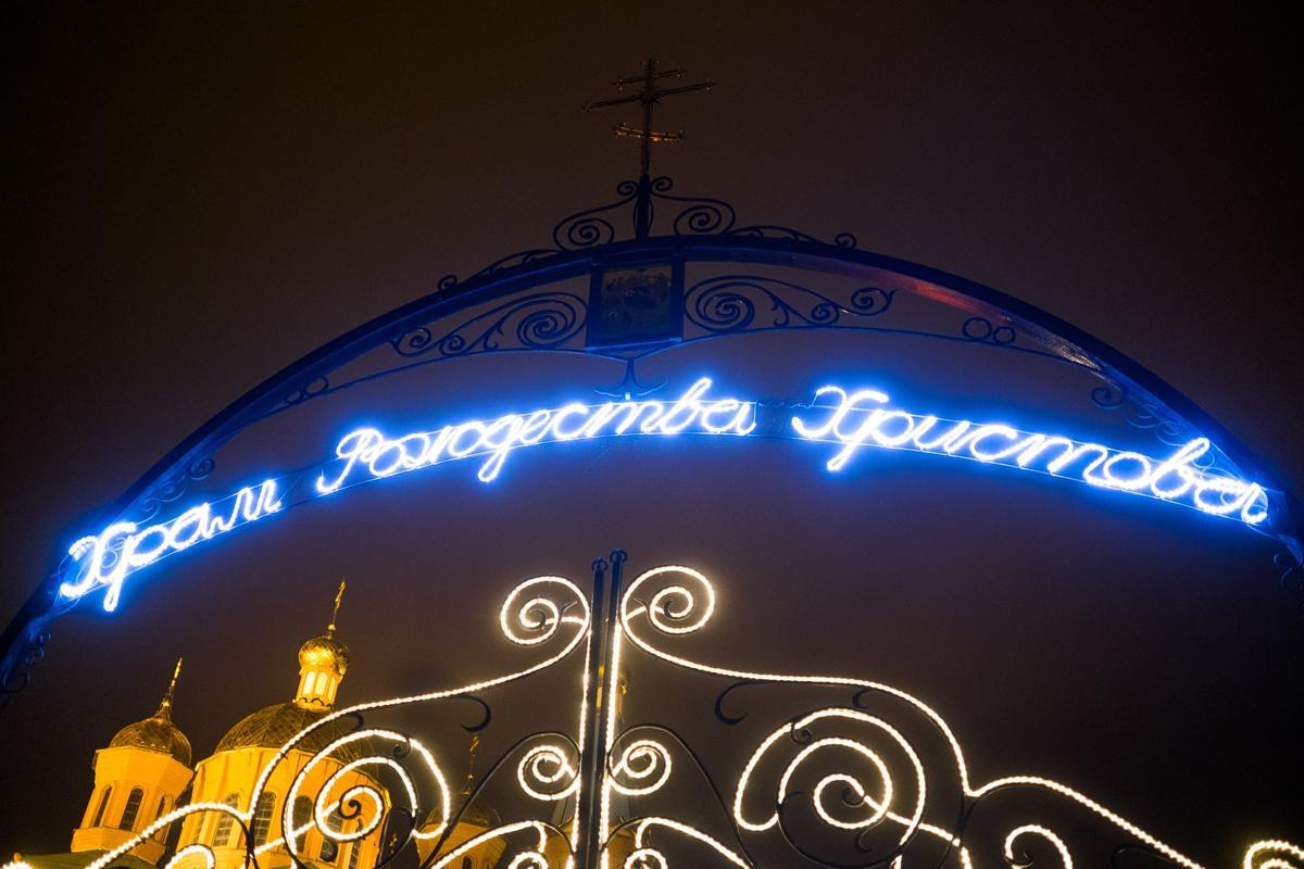 В Рождественском храме Краснодара впервые установили живой вертеп