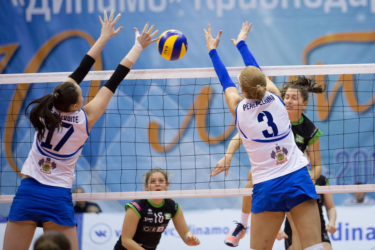 Как ЖВК «Динамо Краснодар» сыграла с австрийским клубом «Холдинг Грац»