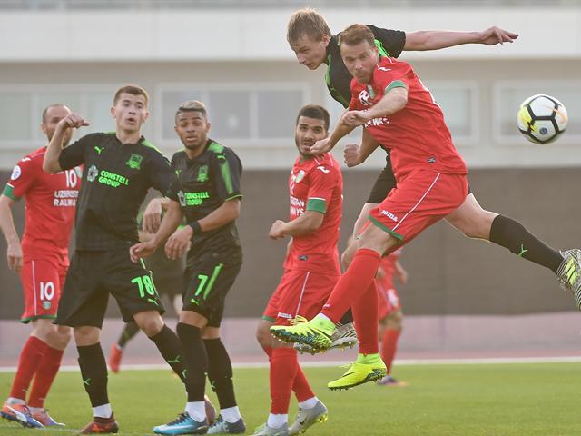 Как футбольный «Краснодар» провел первый матч на сборах