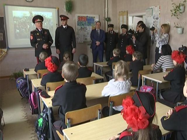 Николай Долуда посетил казачью школу в Гулькевичском районе