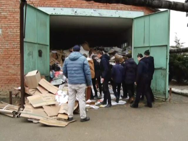 В Успенском районе собрали рекордное количество макулатуры