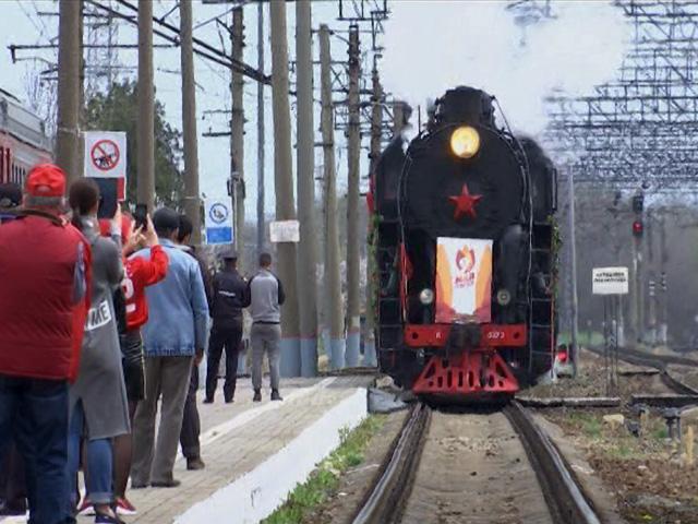 На Кубани встретили ретропоезд «Победа»