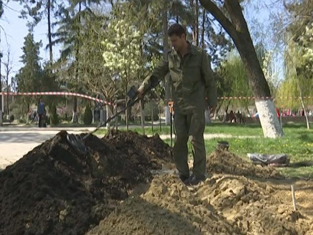 В Крымске эксгумируют тела немецких солдат из парка имени Тельмана