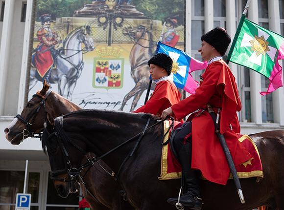 Спецрепортаж: парад Кубанского казачьего войска