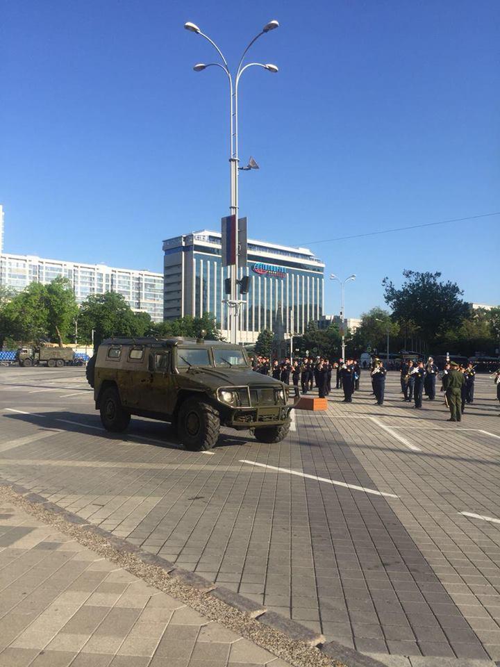 В Краснодаре начались репетиции парада Победы