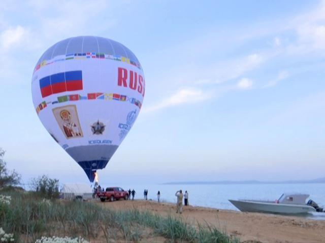 Над Керченским проливом впервые в истории пролетел аэростат «Россия»