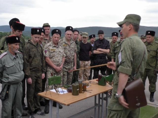 В станице Раевской прошли военно-полевые сборы казаков