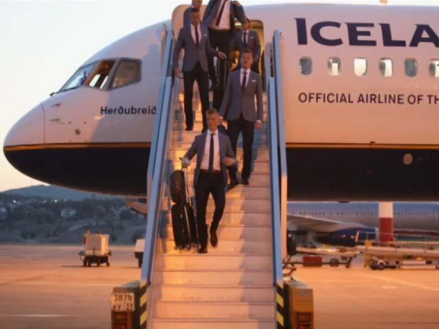 В Геленджике прошла открытая тренировка сборной Исландии по футболу