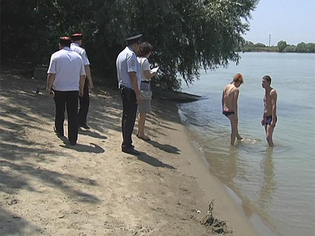 В Краснодаре провели рейд по запрещенным для купания местам