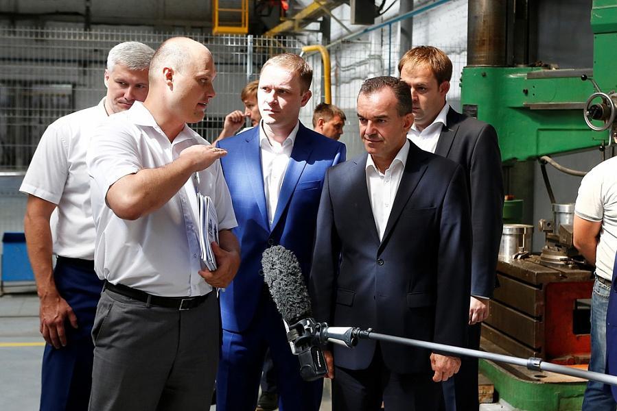 Вениамин Кондратьев посетил обновленный завод имени Седина в Краснодаре
