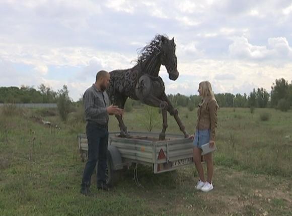 Мастер из Белореченска привезет на «Кубанскую ярмарку» железного коня