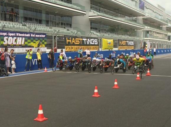 На «Сочи Автодроме» прошли гонки спортсменов-колясочников